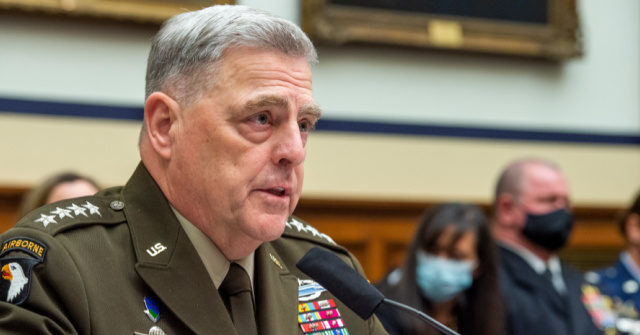 Banks Gets Milley to Agree Generals Becoming Political Is 'Dangerous'