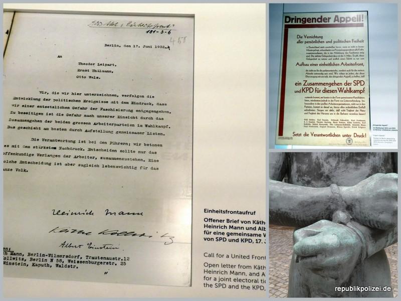 Berlin, 17. Juni 1932 – Dringender Appell von K. Kollwitz, Heinrich Mann und Albert Einstein: