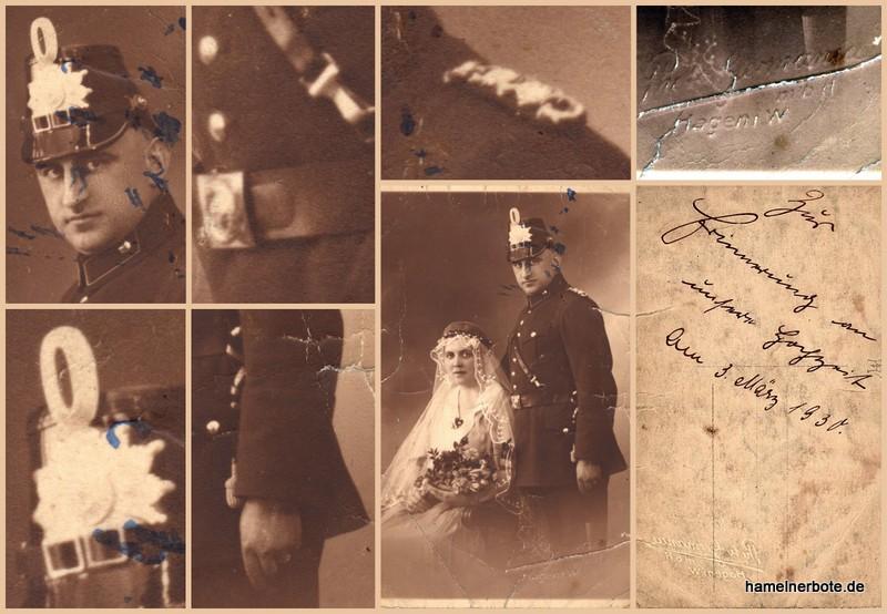 Polizeifoto: Hochzeit, 3. März 1930