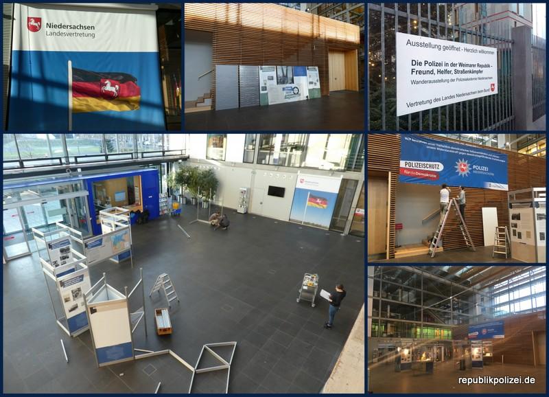 Impressionen Ausstellungsaufbau Berlin: Freunde – Helfer – Straßenkämpfer
