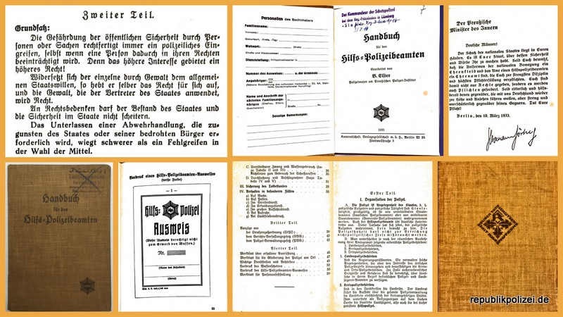 Buch: Handbuch für den Hilfs-Polizeibeamten