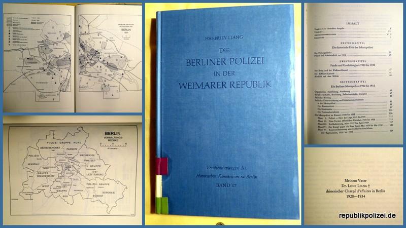 HSI-HUEY LIANG: Die Berliner Polizei in der Weimarer Republik