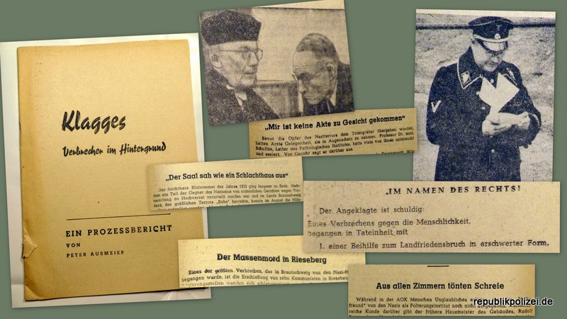 Das Klagges-Urteil (Braunschweig) Klagges, Verbrecher im Hintergrund – ein Prozessbericht von 1950