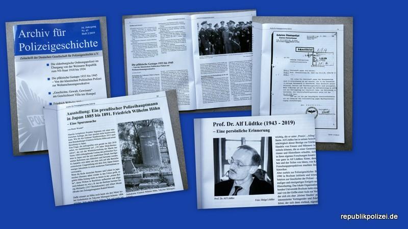 Impressionen: Archiv für Polizeigeschichte Heft 2/2019