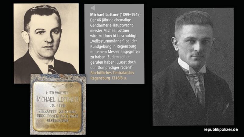 Polizisten-Schicksal zum Kriegsende 1945: Michael Lottner, Gendarmerie-Hauptwachtmeister i.R.