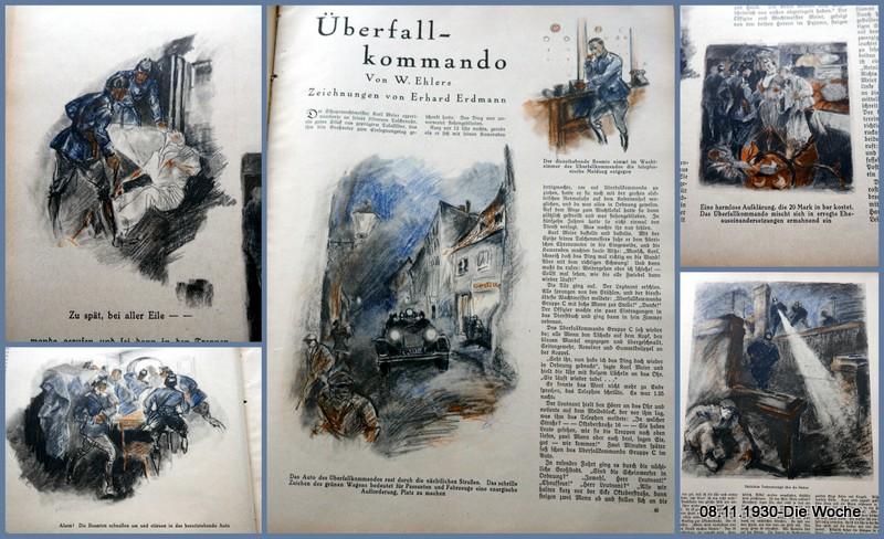 Überfallkommando – Zeitungsbeitrag vom 08.11.1930 – Die Woche