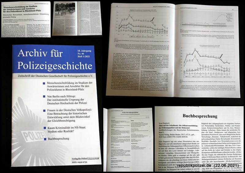Nr. 46 – Archiv für Polizeigeschichte, Heft 1/2021 – Kurzvorstellung