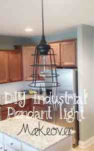 DIY Industrial Farmhouse Pendant light