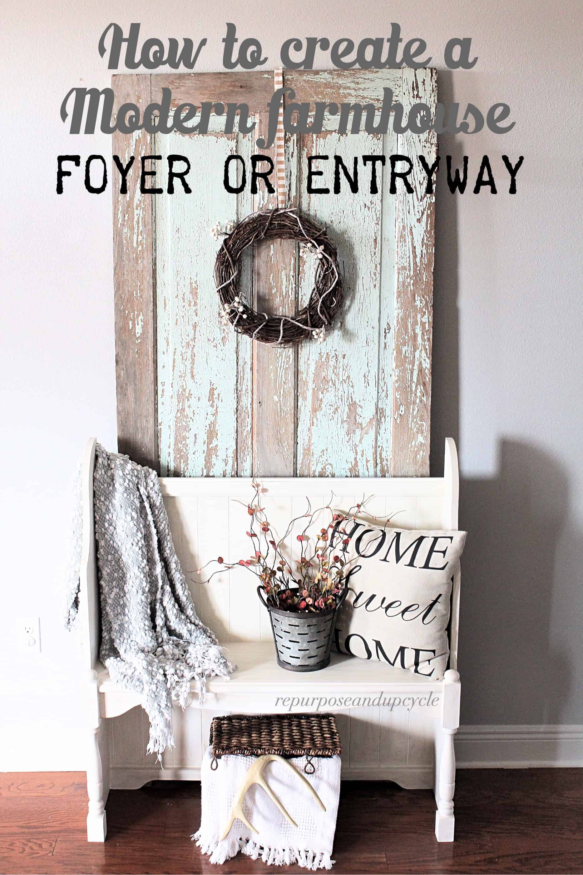 Modern Farmhouse Entryway title