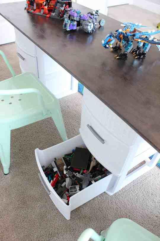 simple lego storage idea