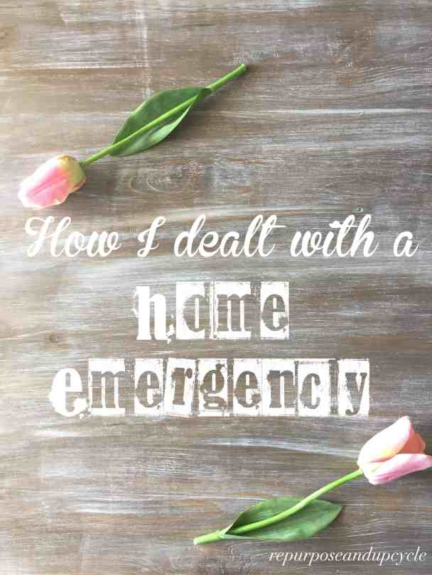 how i dealt with a home emergency