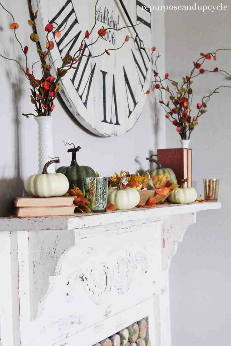 Decorating a Mantel for any Season and a Fall Gourmesso Coffee Recipe