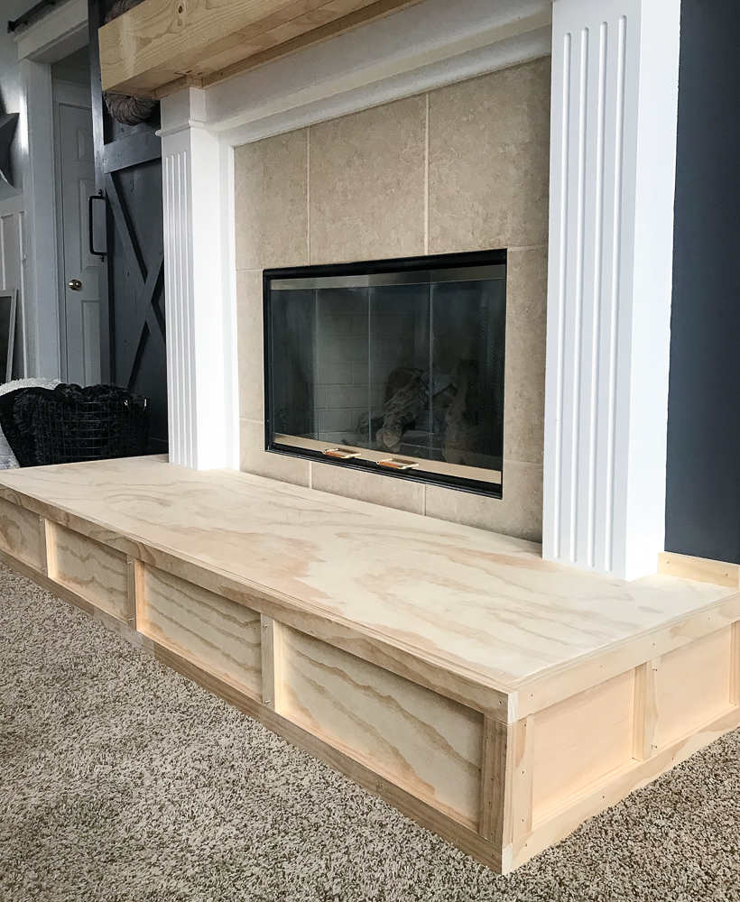 hearth with trim