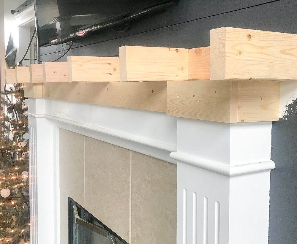 cleat for faux wood beam mantel
