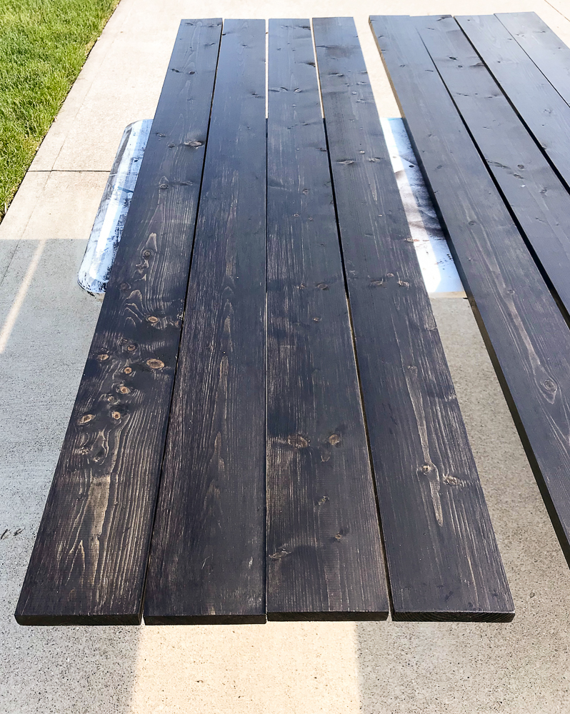 boards painted black