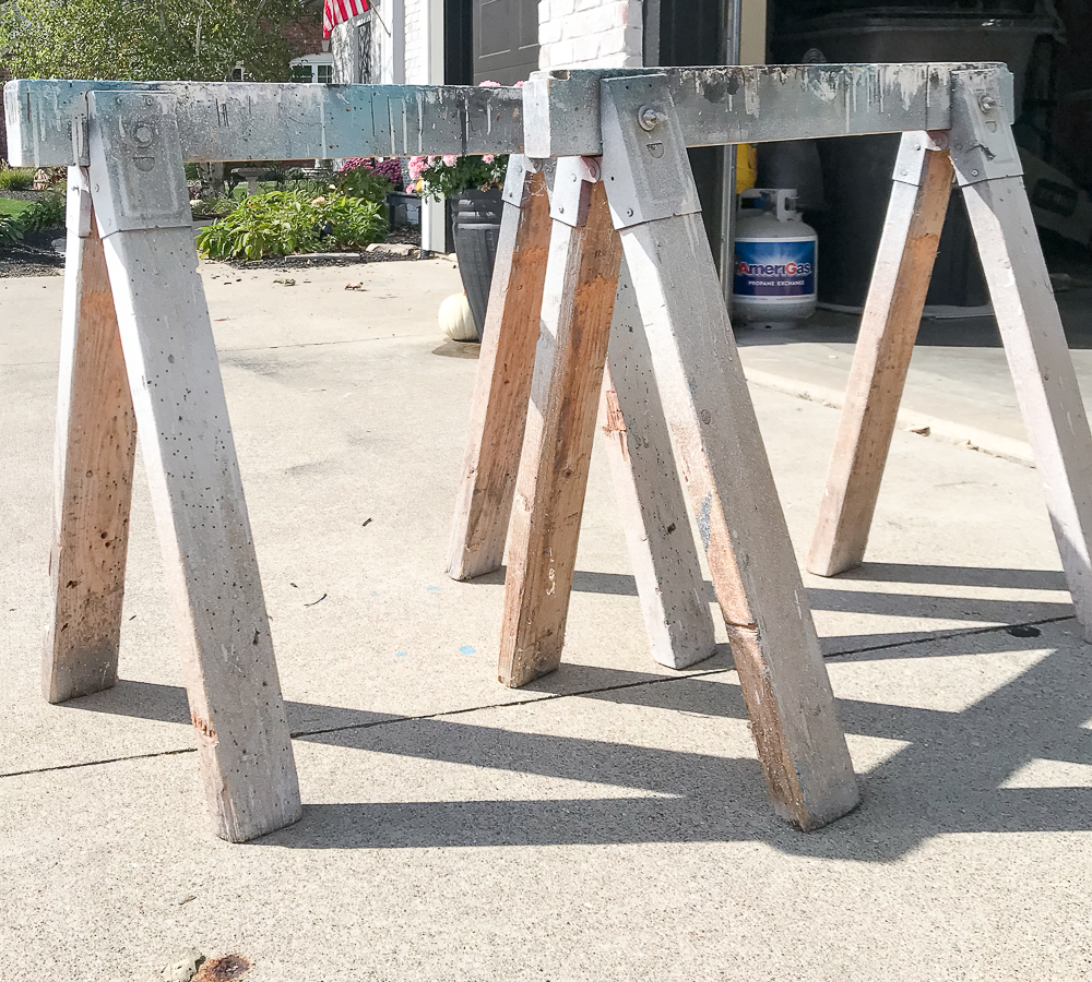 essential tools: wooden sawhorses