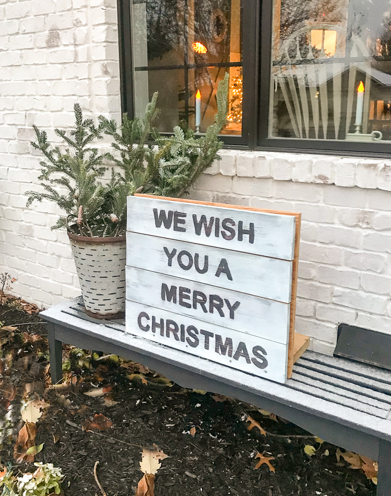 easy diy wooden christmas outdoors sign