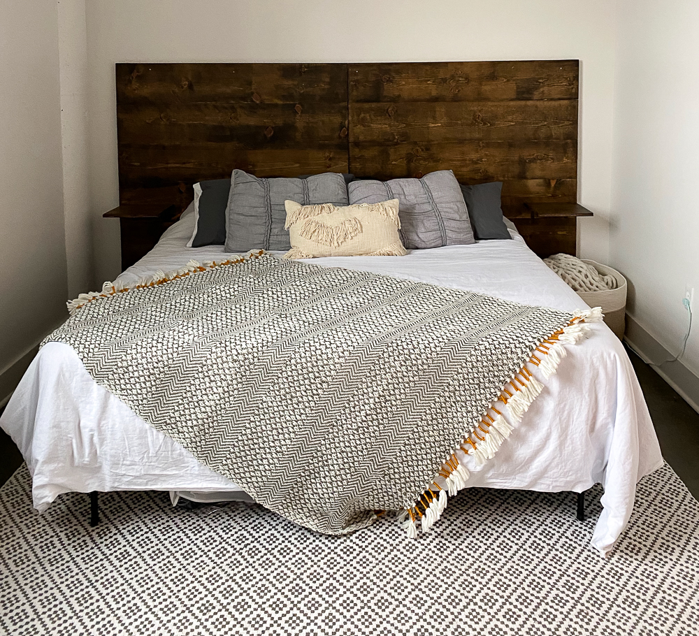 boho style bedding on king bed