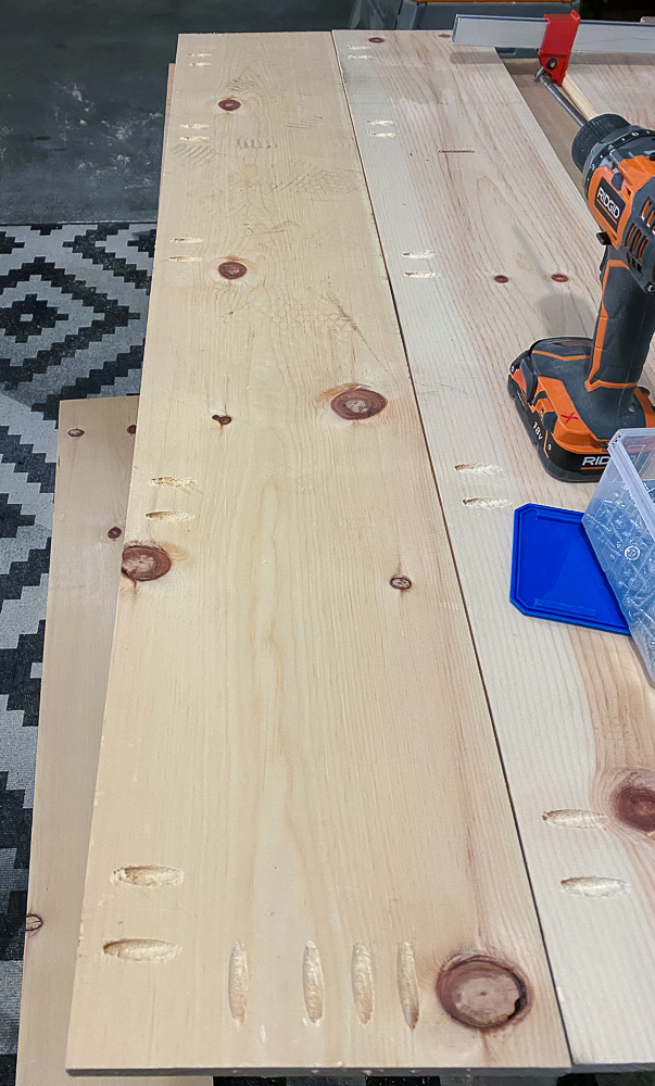 1x10 pine board with pocket holes
