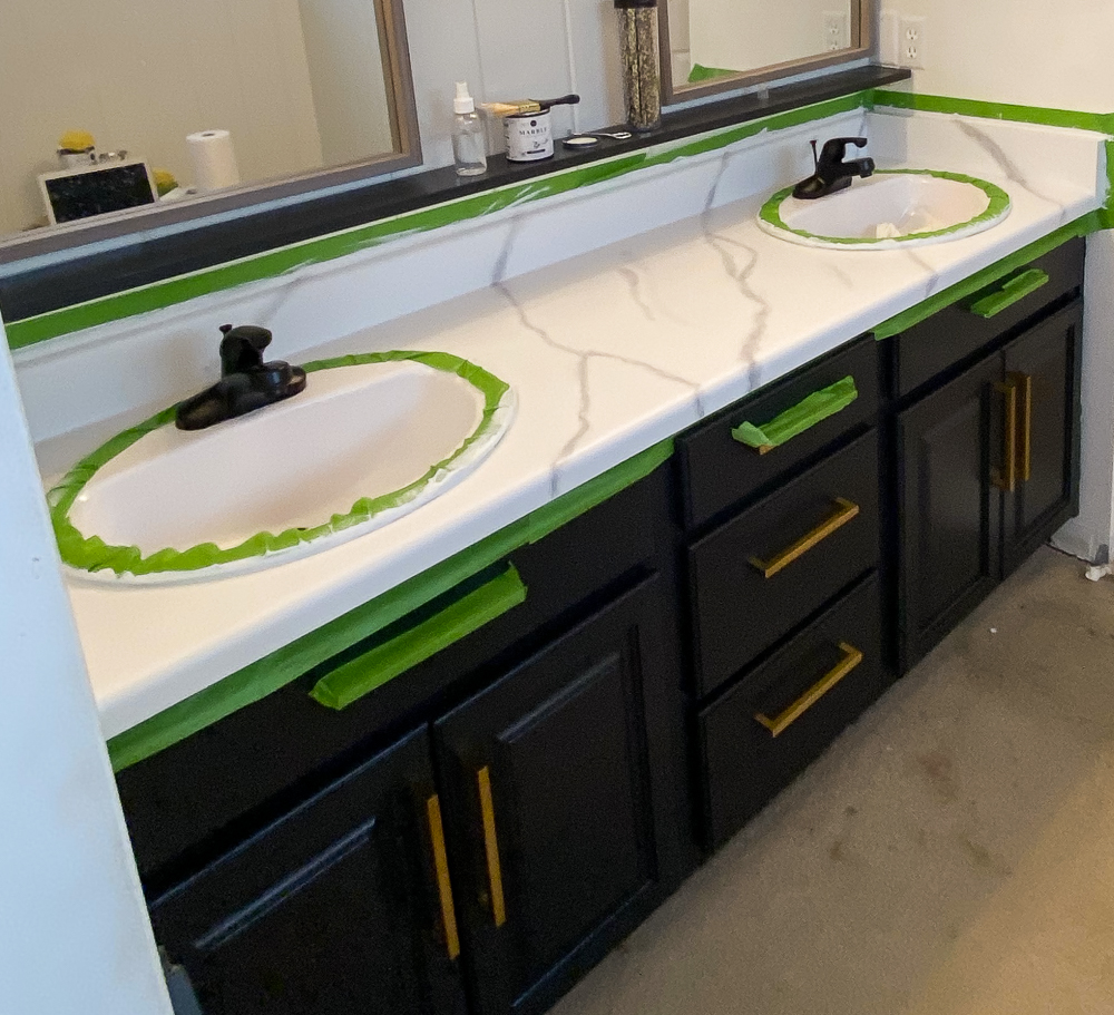 marble countertops with veining