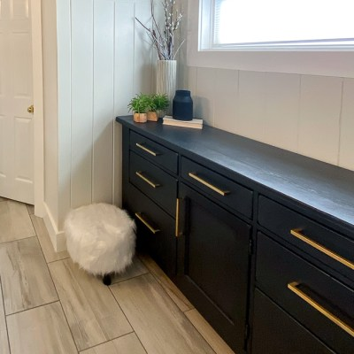 Dresser Makeover from Distressed to Modern