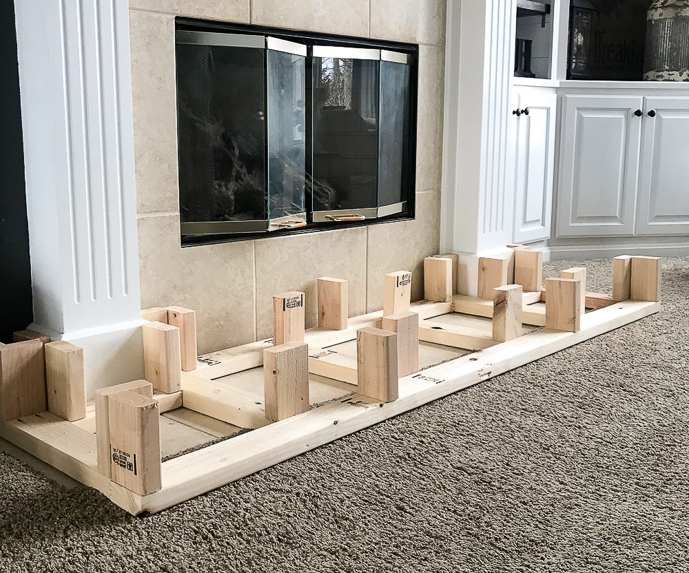 base to fireplace hearth