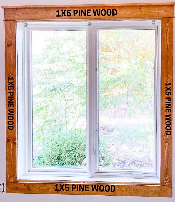 window with craftsman trim