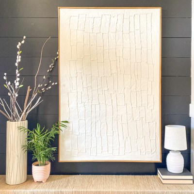 Easy How to DIY Textured Canvas Wall Art