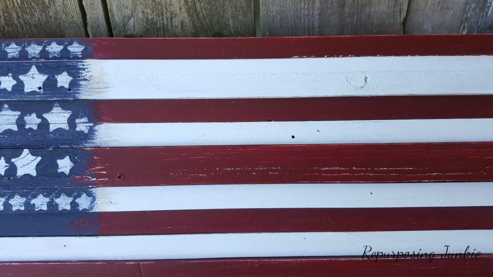 Scrap Wood Repurposed into American Flag