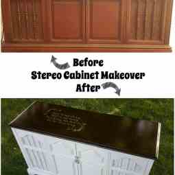 Stereo Cabinet Refinished
