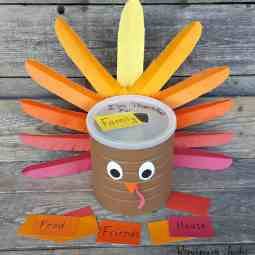 How to Make a Thankful Turkey with a Coffee Can