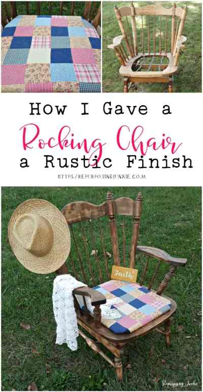 How I Gave a Rocking Chair a Rustic Finish