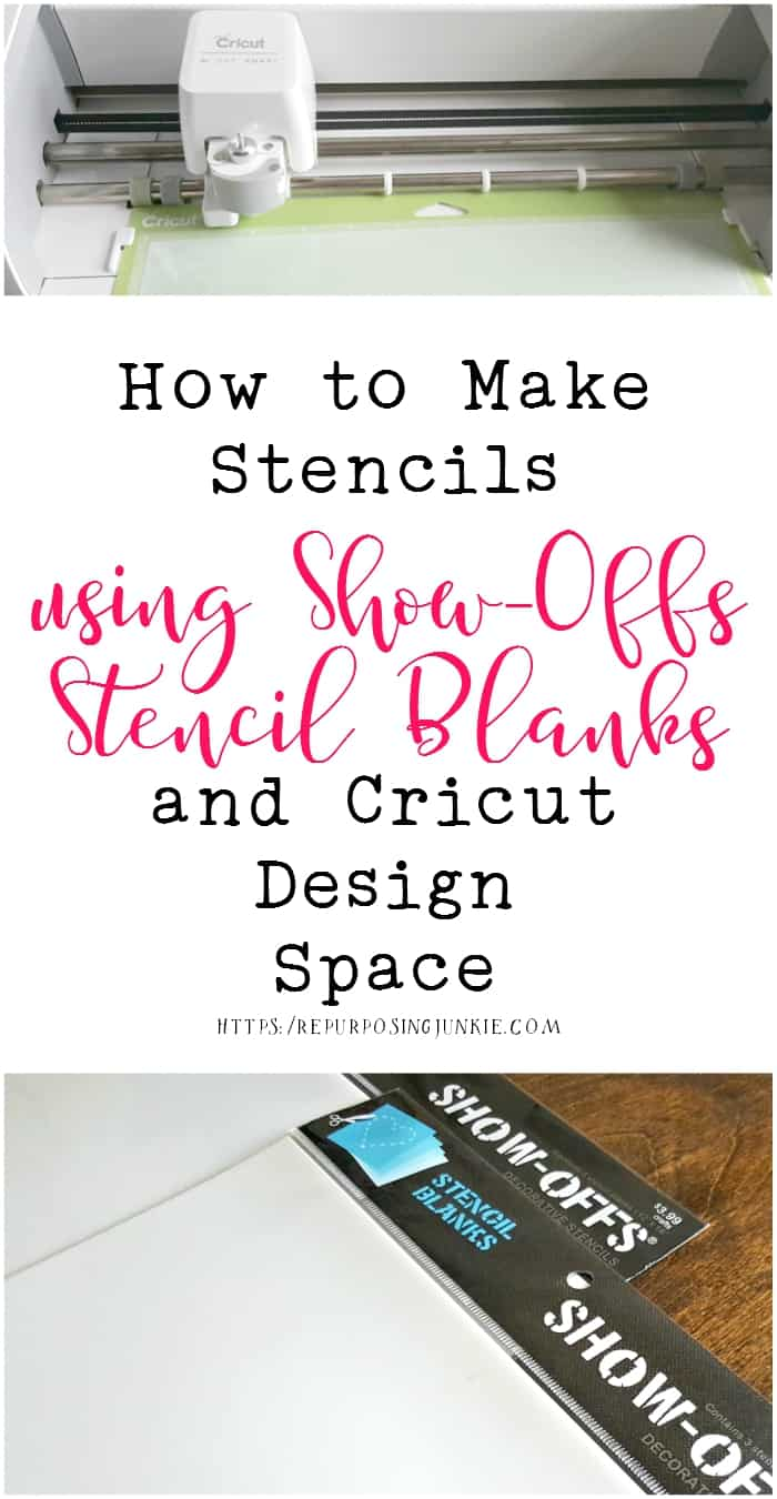 How to Make Stencils using SHOW-OFFS Stencil Blanks and Cricut Design Space