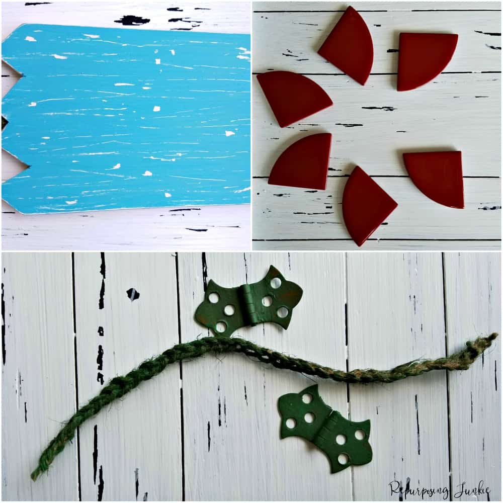 Funky Flower Wall Art from Repurposed Materials
