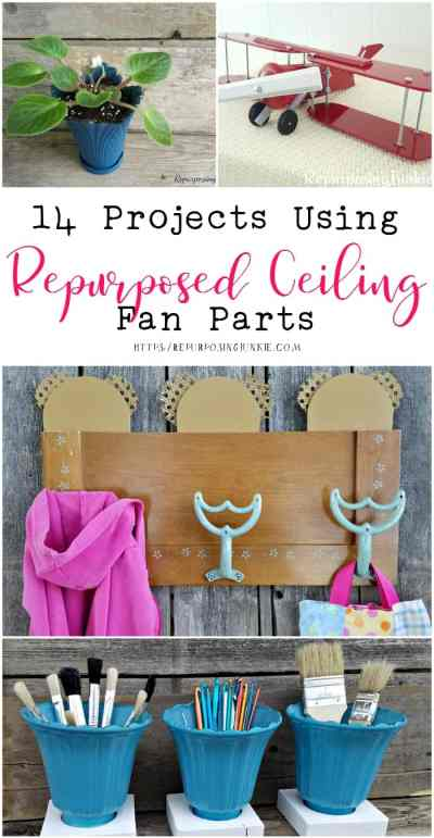 14 Projects Using Repurposed Ceiling Fan Parts