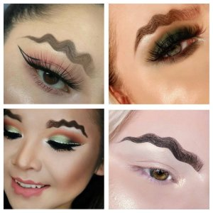 Would you wear wavy or squiggly eyebrows?