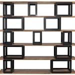 Fargo Bookcase Dark Walnut Metal