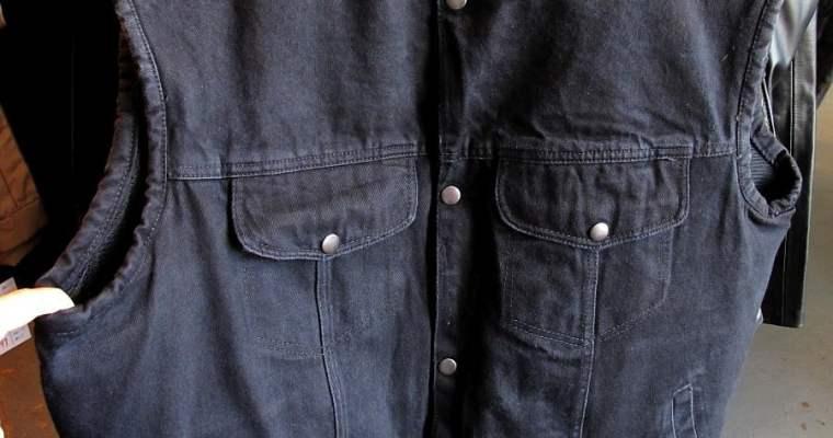 Classic Black Denim Vest… with Pockets!