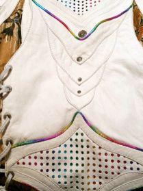 Beautiful white and rainbow vest