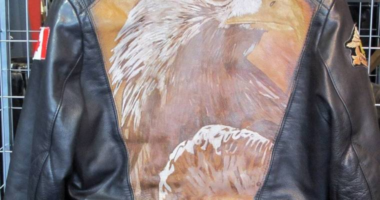 Vintage Hand-Painted Eagle Jacket