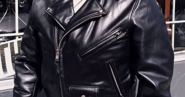 Johnsons leather of San Fran. Perfecto style classic biker jacket. Nom. #rerides
