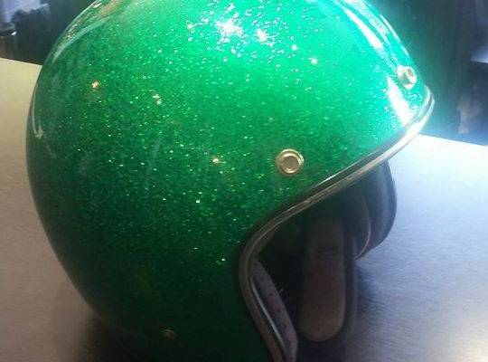 Great Green Glittery Helmet