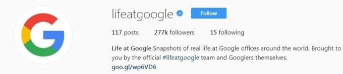 Life At Google - On Instagram