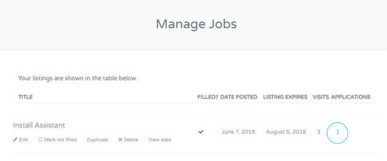 Manage Job Screen Shot
