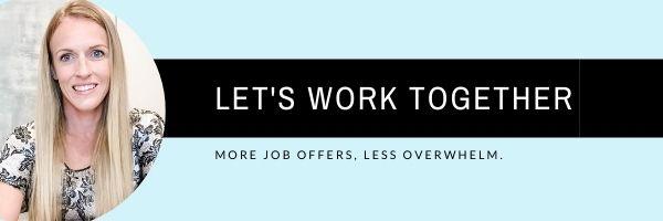 Let's work together banner resume services