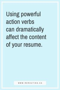 50+ Powerful Action Verbs You Need To Use On Your Resume Blog Quote