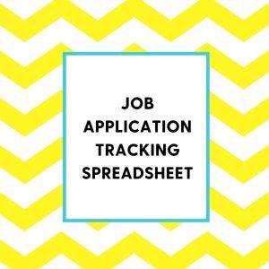 Job Application Tracking Spreadsheet