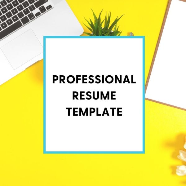 Professional Resume Template Shop Graphic