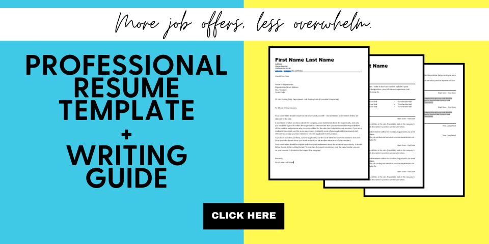 Professional Resume Template Blog Banner