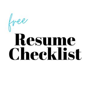 Free Resume Checklist Download